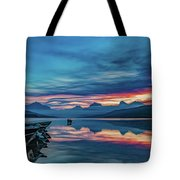 Morning Glory At Glacier National Park Tote Bag by Lon Dittrick