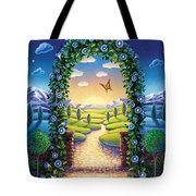 Morning Glory - Awaken To Magic Tote Bag by Anne Wertheim