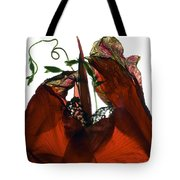 Morning Glory Canna Red Tote Bag