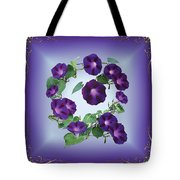 Morning Glory Design Tote Bag
