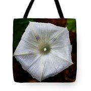 Morning Glory White Tote Bag