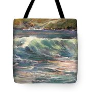 Morning Glow On Sugar Beach Tote Bag