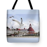 Morning Gulls On Coronado Tote Bag