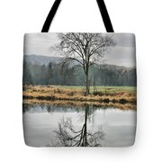 Morning Haze And Reflections Tote Bag