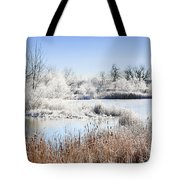 Morning Hoar Frost Tote Bag