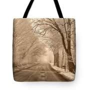 Morning Ice And Fog Tote Bag