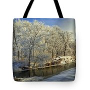 Morning Icing Along The Creek Tote Bag
