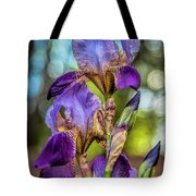 Morning Iris Tote Bag