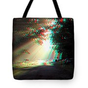 Morning Light - Use Red-cyan 3d Glasses Tote Bag