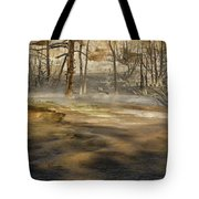 Morning Light On  Mammoth Terrace Tote Bag