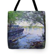 Morning Light By The River Tote Bag