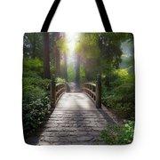 Morning Light On The Bridge Tote Bag