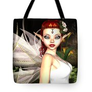 Morning Lily Fairy Tote Bag