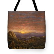 Morning Looking East Over The Hudson Valley From The Catskill Mountains Tote Bag
