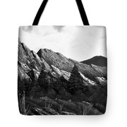 Morning Meadow Dew In Black And White Tote Bag