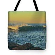 Morning Moonrise Tote Bag