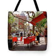 Morning On A Street In Tel Aviv Tote Bag by Zalman Latzkovich