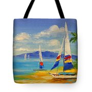 Morning On A Sunny Beach Tote Bag