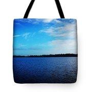 Morning On Bass Lake Tote Bag