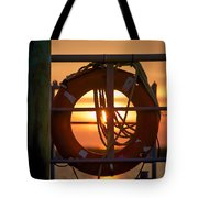 Morning On Deck  Tote Bag