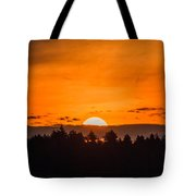 Morning On Fire Tote Bag