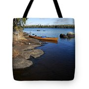 Morning On Hope Lake Tote Bag by Larry Ricker