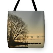 Morning On The Bay Bridge Tote Bag