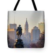 Morning On The Parkway - Philadelphia Tote Bag