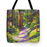 Morning On The Trail 3 Tote Bag