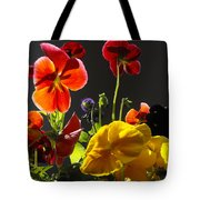 Morning Pansy's  Tote Bag