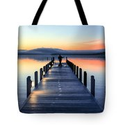 Morning Pier Tote Bag