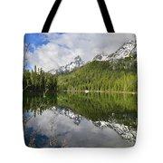 Morning Reflection On String Lake Tote Bag