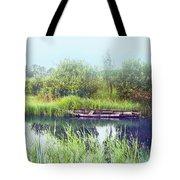 Morning River In Old Dutch Village Tote Bag