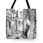 Morning Stroll In Montefioralle Tuscany Tote Bag