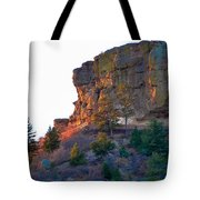 Morning Sun On Castle Rock Tote Bag