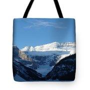 Morning Sunshine Kisses Snowy Peaks Tote Bag
