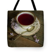 Morning Tea With Lilacs Tote Bag