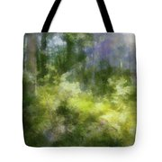 Morning Walk In The Forest Tote Bag
