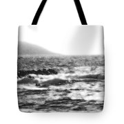 Morning Waves - Bw Diffused 04 Tote Bag