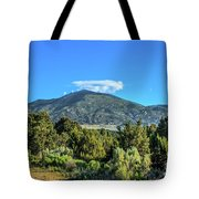 Morning View Of Albion Mountains Tote Bag