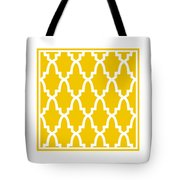 Moroccan Arch With Border In Mustard Tote Bag