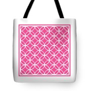Moroccan Endless Circles I With Border In French Pink Tote Bag