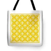 Moroccan Endless Circles I With Border In Mustard Tote Bag