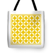 Moroccan Endless Circles II With Border In Mustard Tote Bag