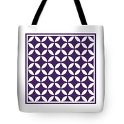 Moroccan Endless Circles II With Border In Purple Tote Bag