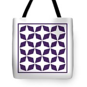 Moroccan Inlay With Border In Purple Tote Bag
