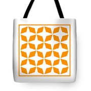 Moroccan Inlay With Border In Tangerine Tote Bag