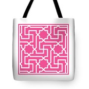 Moroccan Key With Border In French Pink Tote Bag