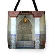 Moroccan Mosaic Tile Fountain Tote Bag