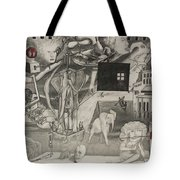 Morphology Of Time And The Omniscient Galactic Swimmer Tote Bag